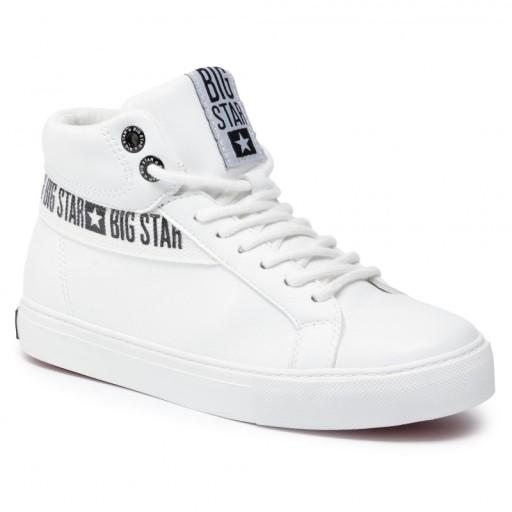 Big Star trampki EKOSKÓRA białe wysokie EE274356
