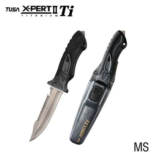 Nóż TUSA X-PERT TITANIUM FK-940 (Czarny)