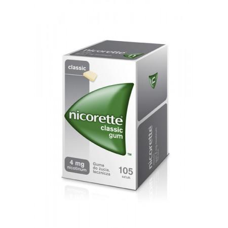 Nicorette Classic Gum 4 mg 105 gum do żucia
