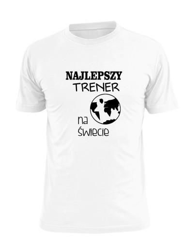 koszulka najlepszy trener na świecie zawody ziemia 8501856419 Odzież Męska T-shirty UW APMMUW-6