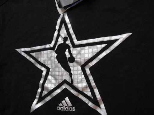 ADIDAS NBA Basketball ORYGINAL CZARNY T SHIRT S