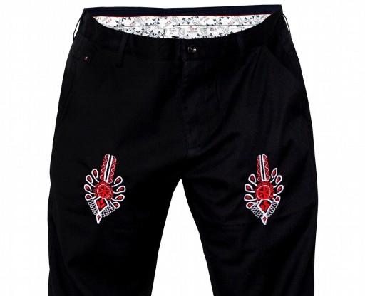 Spodnie męskie eleganckie z parzenicą ,regionalne! 8968763584 Odzież Męska Spodnie MN XKKRMN-7
