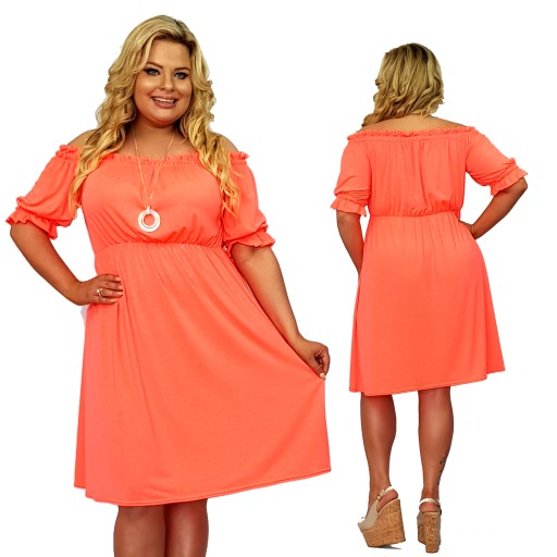 Sukienka Letnia Lato Neony Trapezowa S 34 Xl Xxl 8186966388 Allegro Pl