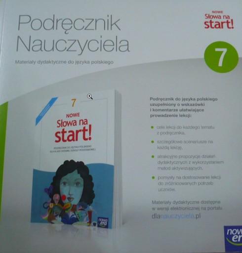 Nowe Slowa Na Start 7 Ksiazka Nauczyciela 2017 207 90 Zl Allegro Pl Raty 0 Darmowa Dostawa Ze Smart Internet Stan Nowy Id Oferty 9606788410