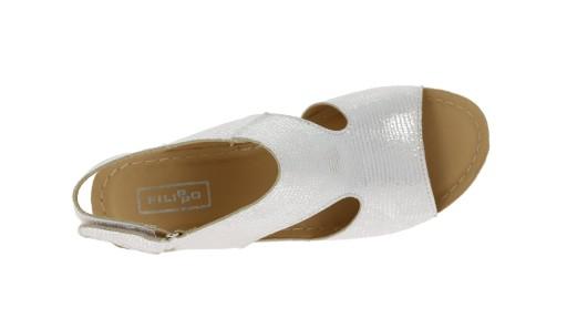 Sandały na koturnie Filippo srebrne r.37 7828356300