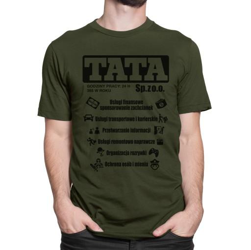 koszulka dla TATY prezent na Dzień Ojca nt 30 M 9017746584 Odzież Męska T-shirty XM CLKUXM-2