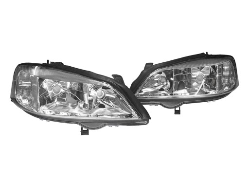 Opel Astra Ii G 97 09 Lampy Reflektory Black Ringi Ilawa Allegro Pl