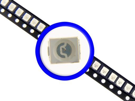 10x LED SMD 3528 PLCC-2 20mA 462nm NIEBIESKA 7455057673