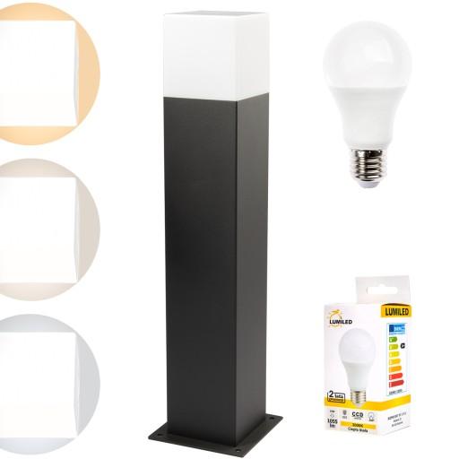 SŁUPEK OGRODOWY Lampa 44cm New York + LED 10W E27