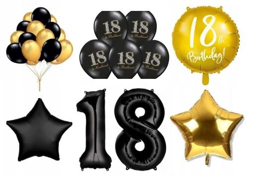 Zestaw Na Osiemnastke 18 Urodziny 18 Stka Balony 7814860047 Allegro Pl