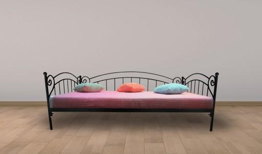 łóżko Metalowe Sofa Zofia 120x200 Kute Białe