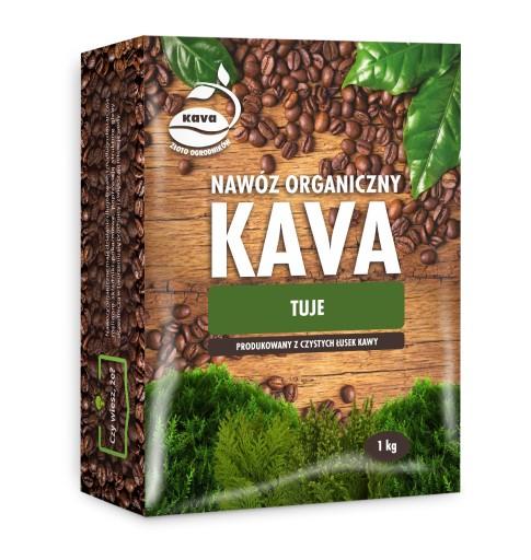 Nawóz KAVA (z kawy) 1 kg TUJE + HYDROŻEL GRATIS