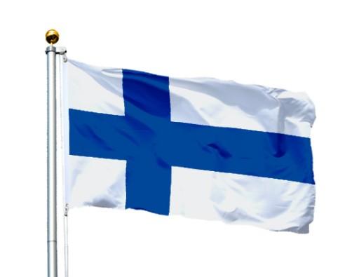 Flaga Finlandia 150x90 cm Flagi Finlandii Finland 4974113649 ...