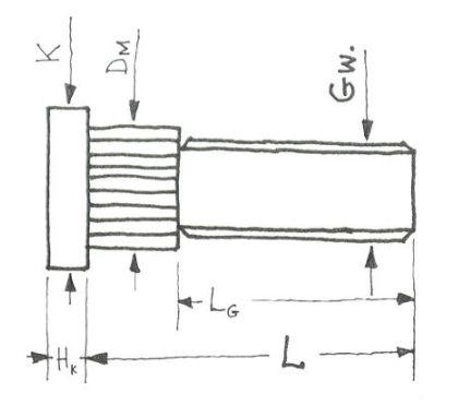 VARZTAS STEBULE (STUPICOS) RATO M10x1,25x34/25 10.9 OC KAISTIS