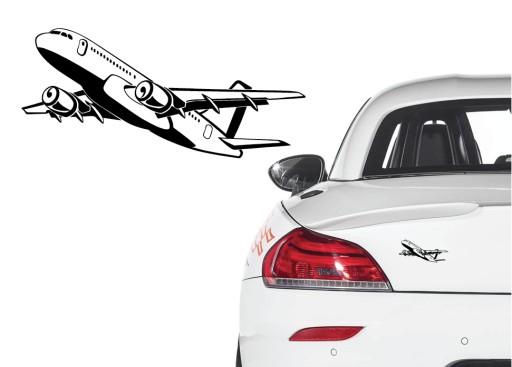Naklejka na samochód samolot boeing airbus plane