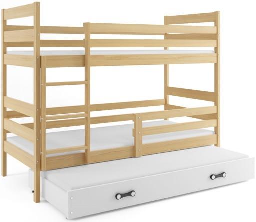 łóżko Piętrowe Dla Dzieci Eryk 3 Osobowe 200x90