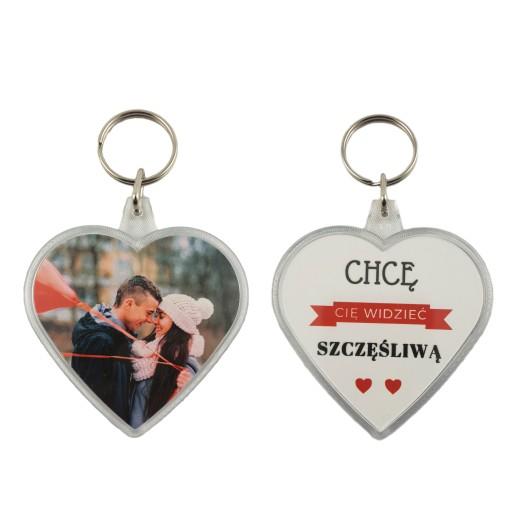 Brelok Serce Ze Zdjeciem Na Prezent Walentynki Hit 7820313250 Allegro Pl