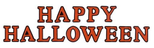 Naszywka HAPPY HALLOWEEN - napis z literek HAFT