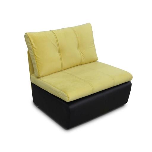 Fotel Rito Z Funkcją Spania Czarny żółty