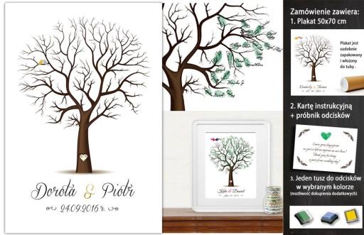 Plakat Drzewo Wpisów 50x70 Cm Ala Księga Gości