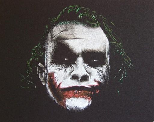 Joker Oryginalny obraz ręcznie rzeźbiony.. Prezent