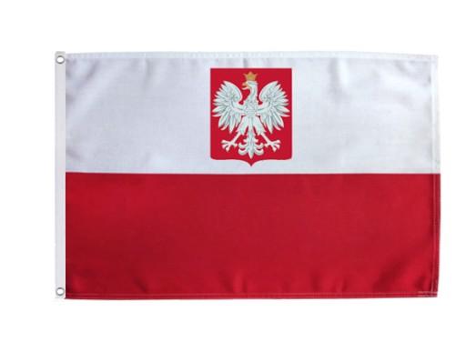 Flaga Polski Godlo Len 150cm Bandera Polska Lniana 8545889086 Allegro Pl