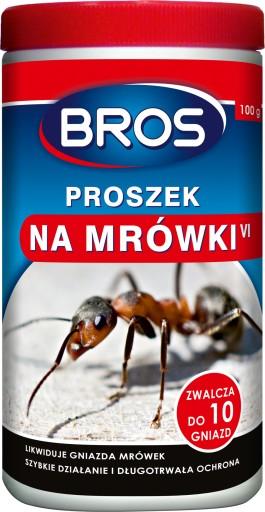 BROS Proszek na mrówki 100g likwiduje do 10 gniazd