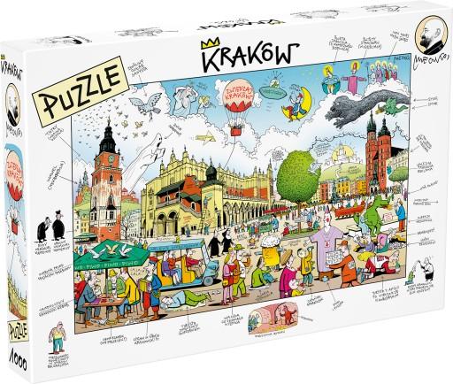 Puzzle - Kraków, Rynek Główny, rys. Anrzej Mleczko