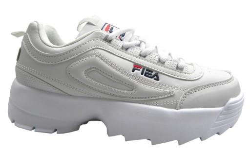 D276 Buty sneakersy gruba podeszwa białe roz39
