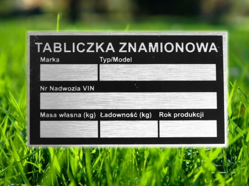 DEPARTMENT TABLE TABLE NAME 85x50mm TRAIL
