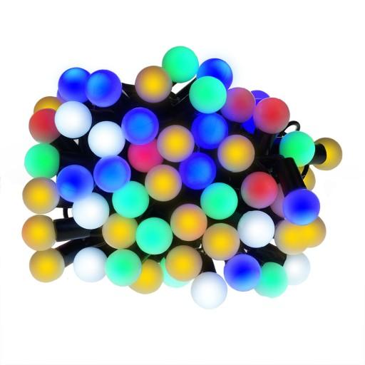 Lampki choinkowe LED wewnętrzne kulki mleczne 100