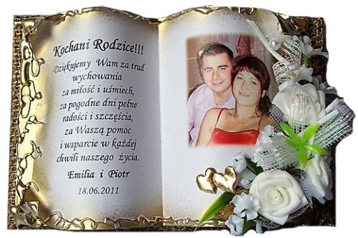 * Ślubne Podziękowanie dla Rodziców,ślub NAJTANIEJ
