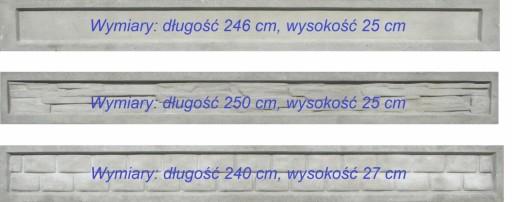 Podmurówka betonowa - deska betonowa, wys. 25 cm