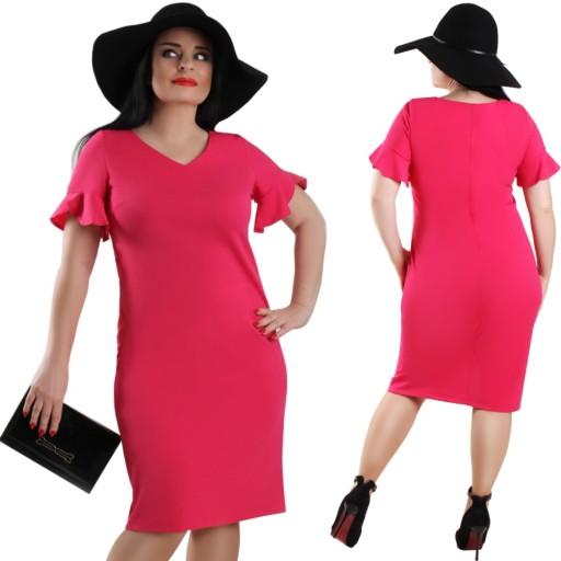 P23 Elegancka Amarantowa Sukienka Na Wesele R50 8102223832 Allegro Pl