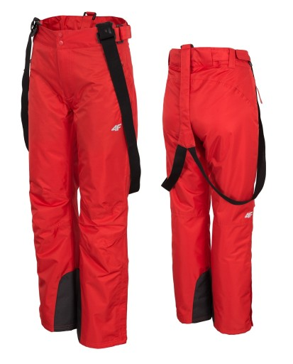 Spodnie Narciarskie Damskie Spdn001 4f Czerwony M 8763184131 Allegro Pl