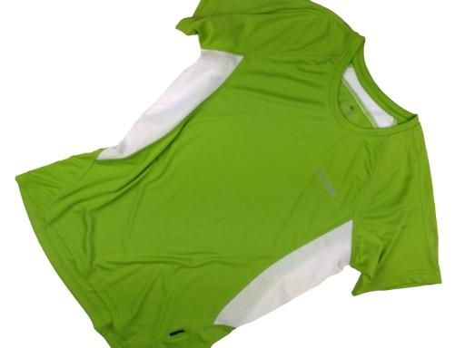 OXIDE koszulka SPORTOWA zieleń PANELE siatkowe L