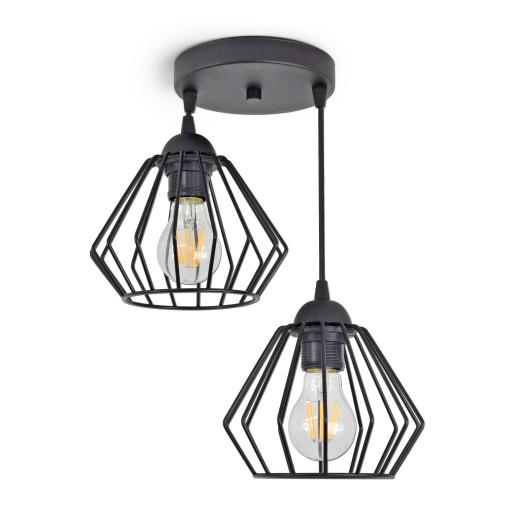 LAMPA WISZĄCA SUFITOWA ŻYRANDOL BRYLANT LED 724-E2