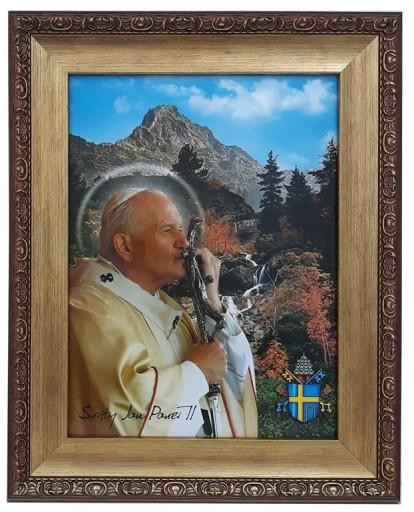 Obraz W Zlotej Ramie 42x52 Papieza Jana Pawla Ii 8641813686 Allegro Pl