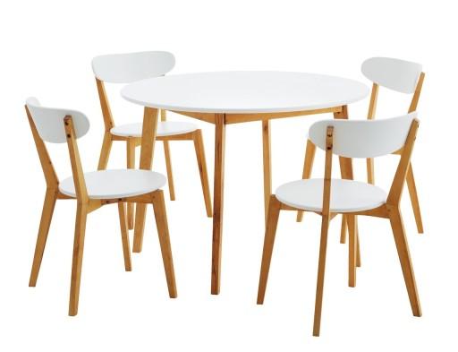 Zestaw Do Jadalni Jegind Stół 4 Krzesła Jysk