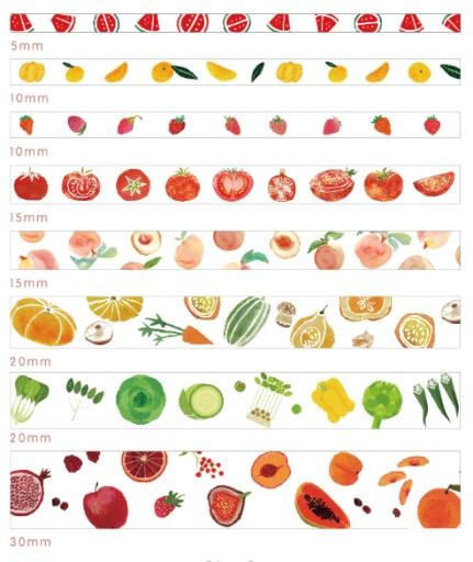 Tasma Washi 8szt Zestaw Papierowa Owoce Warzywa Pl 8085766027 Allegro Pl