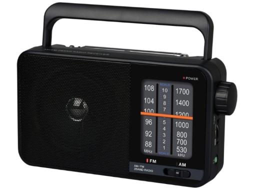 Przenośne Radio RD-15 DarTel, czarny FM, AM