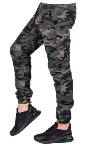 PAS 92 CM baggy JOGGERY materiałowe moro R. 36 8165587130 Odzież Męska Spodnie CR WQRVCR-6