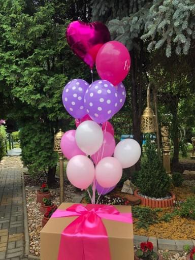 Pudlo Z Balonami Hel Prezent Balony Urodziny 8951508149 Allegro Pl