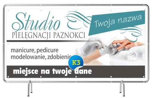 Baner reklamowy 2x1 - Manicure Projekt Gratis