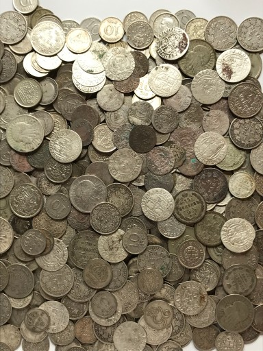 Zestaw 50 szt. srebrnych monet - mik