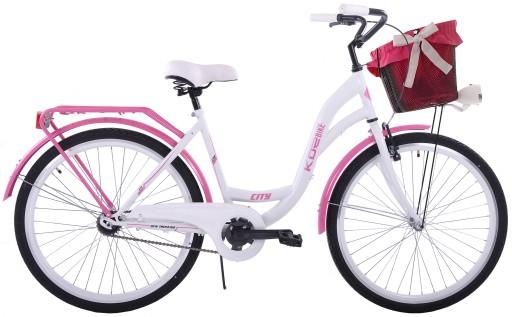 Rower miejski 26 damski damka KOZBIKE K19 z koszem