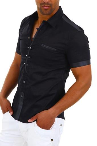 Koszula Męska Elegancka Czarna Ślub Prezent Wesele 8276013257 Odzież Męska Koszule SJ EPCVSJ-3