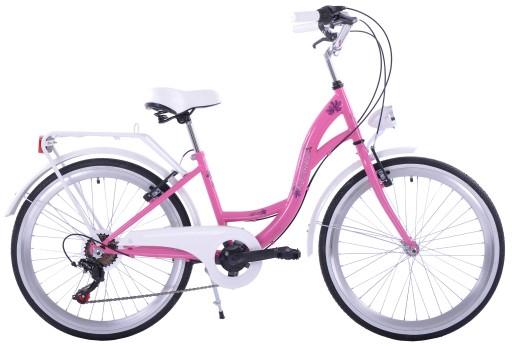 Rower Miejski 24 Dla Dziewczynki Na Komunie 7 Bieg 8009229270 Allegro Pl