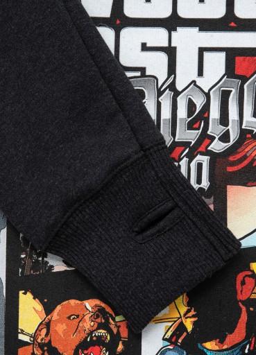 PIT BULL BLUZA MOST WANTED GTA PITBULL SZARA S 10718854925 Bluzy Męskie Bluzy IC UYFYIC-8