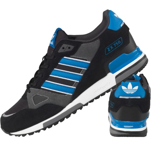 adidas buty zx 750 bialo niebieskie